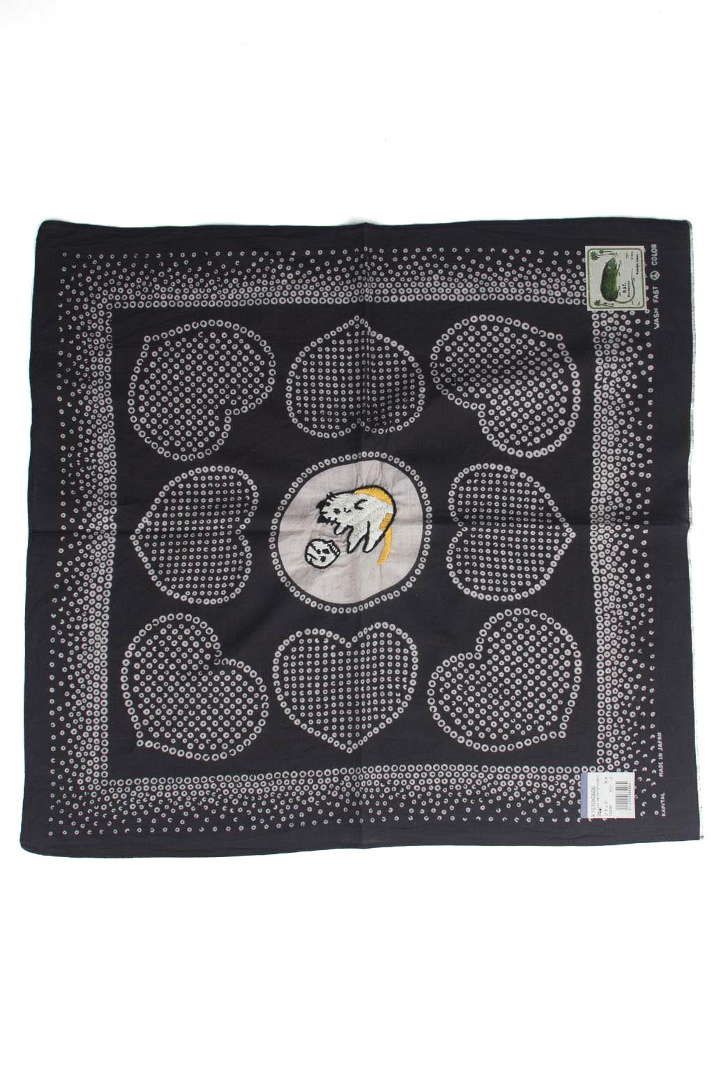 Fastcolor Selvedge Bandana -LOVE CAT