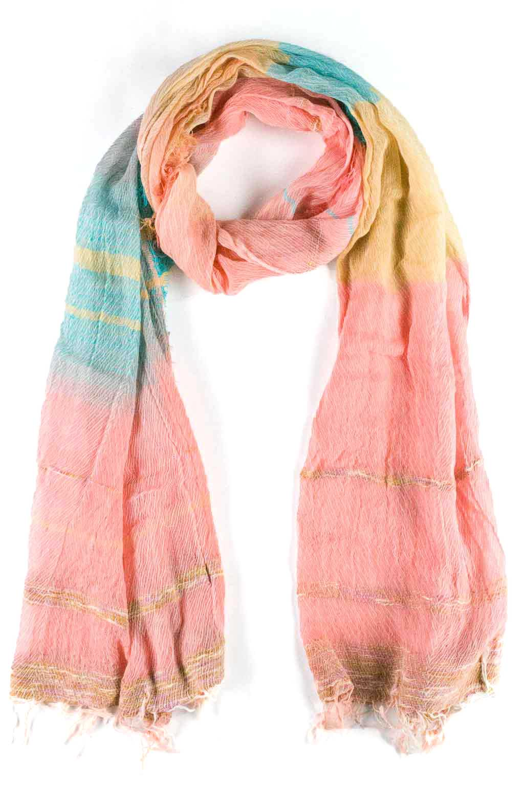 Cotton Scarf - Medium - Orange