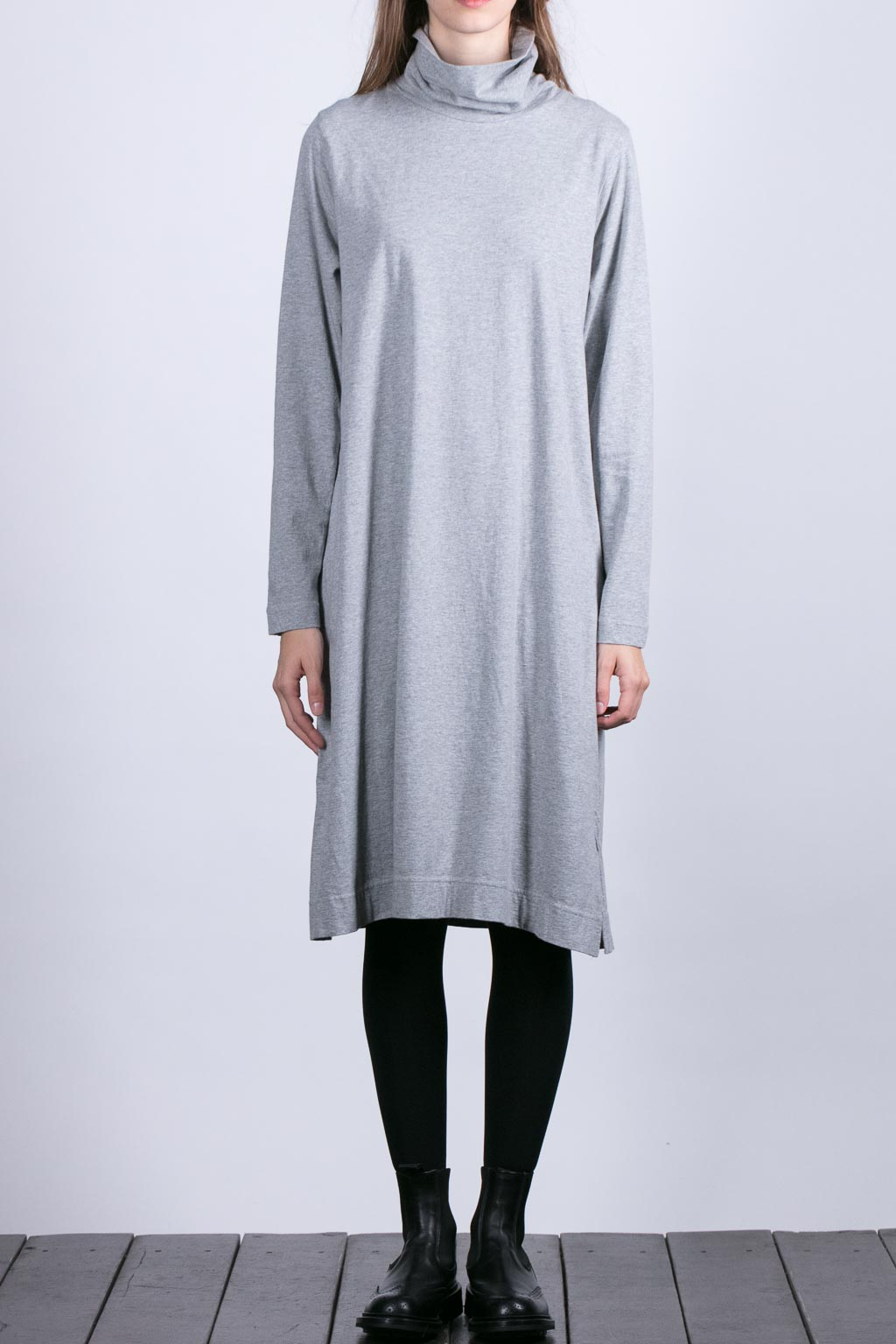 Turtle Neck One Piece - Grey