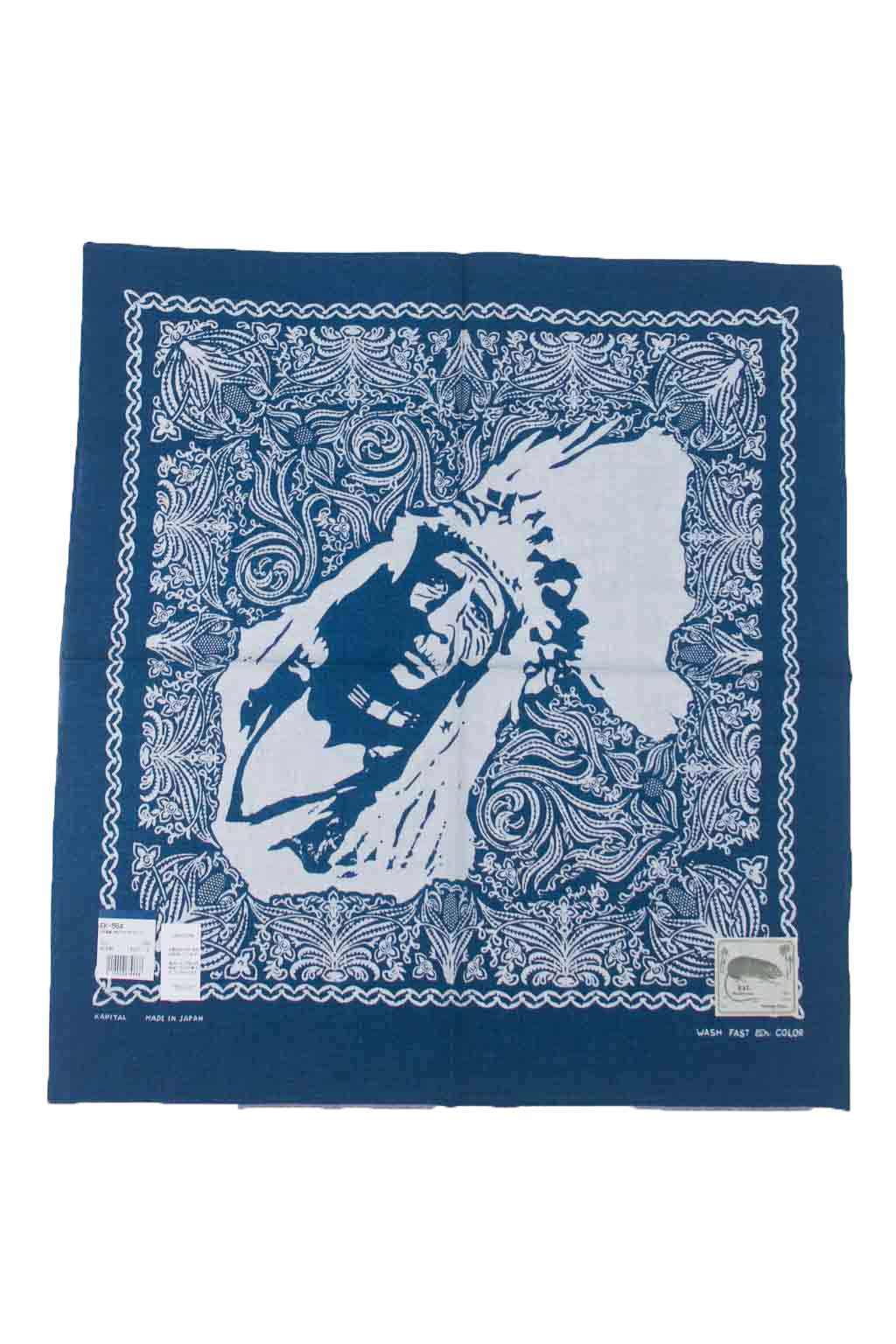 Indigo Dye Selvedge Bandana - Chief