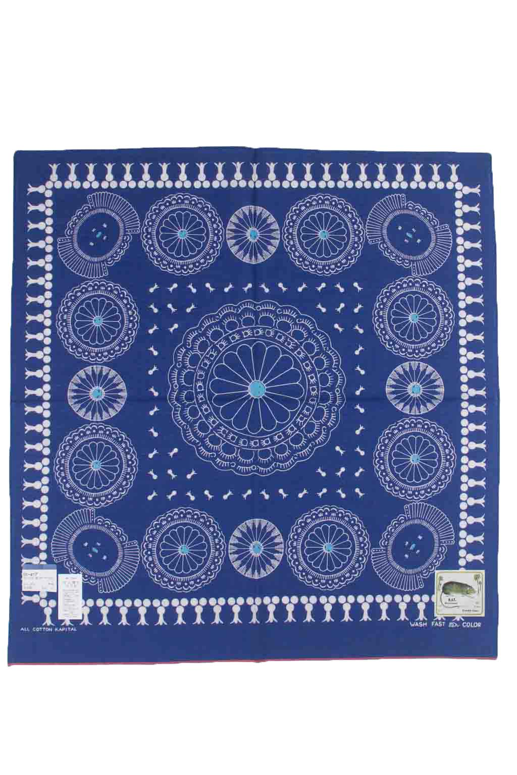 Fastcolor Selvedge Bandana - Concho- Purple Navy