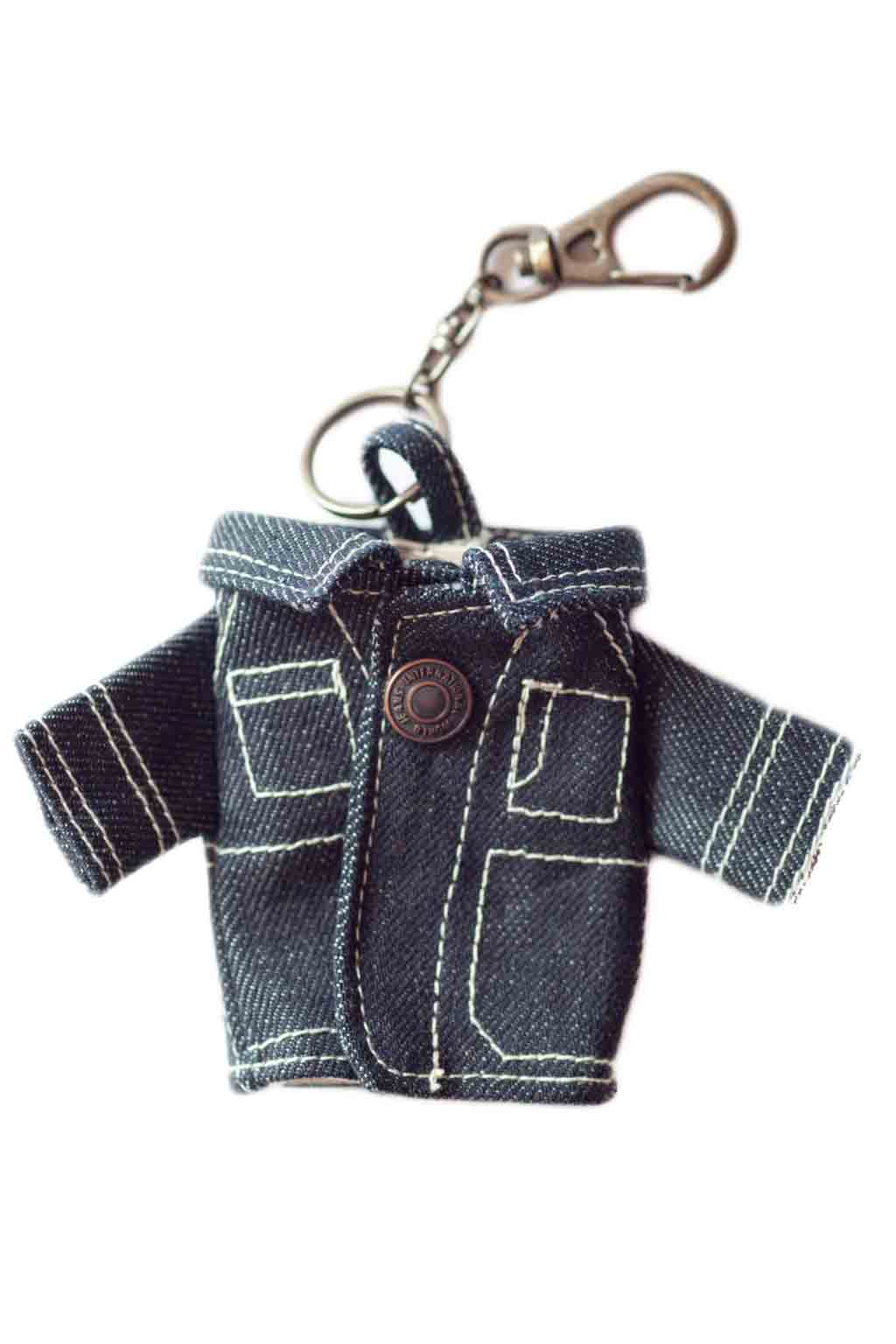 Denim Coverall Key Chain