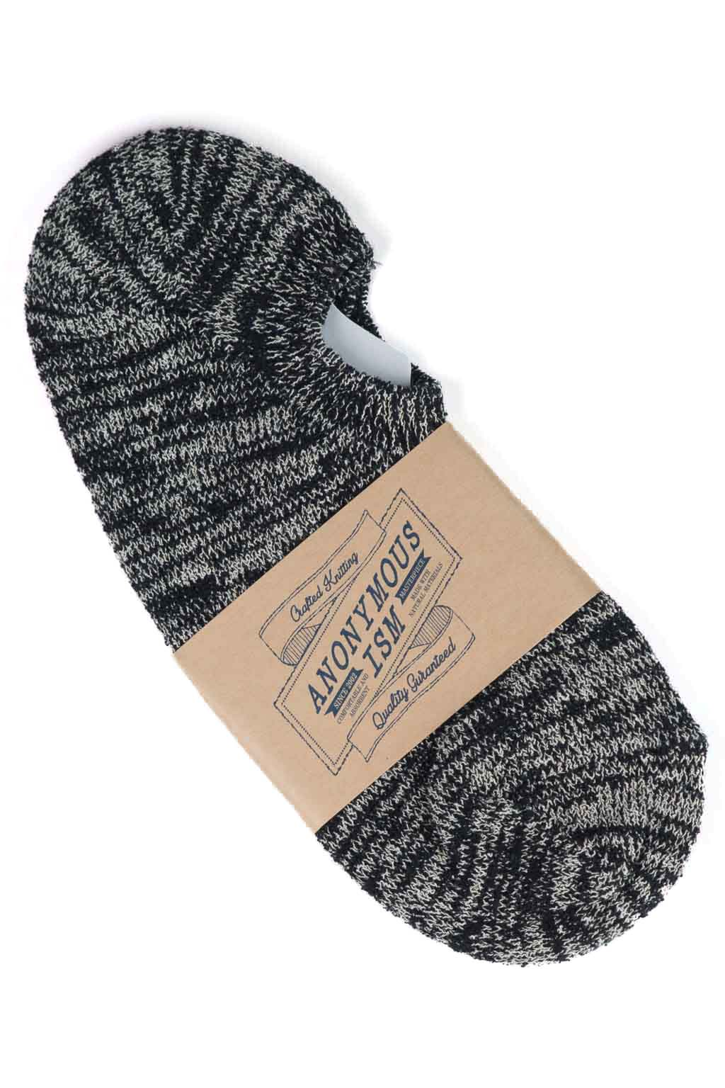 Slub No-Show Sock - Black