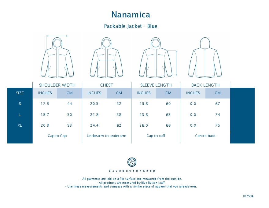 Nanamica Packable Jacket - Blue