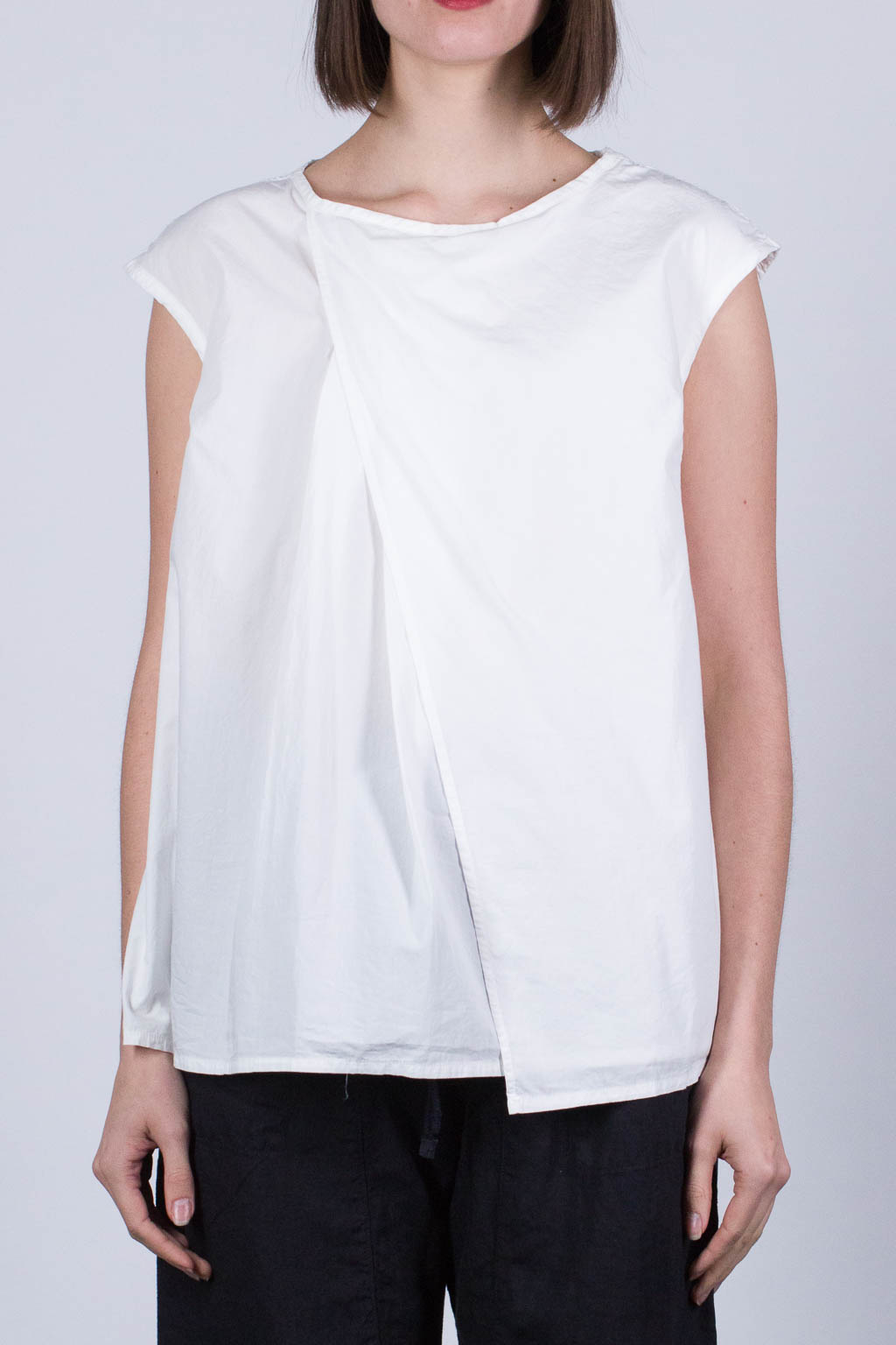 Tuck French Blouse - White