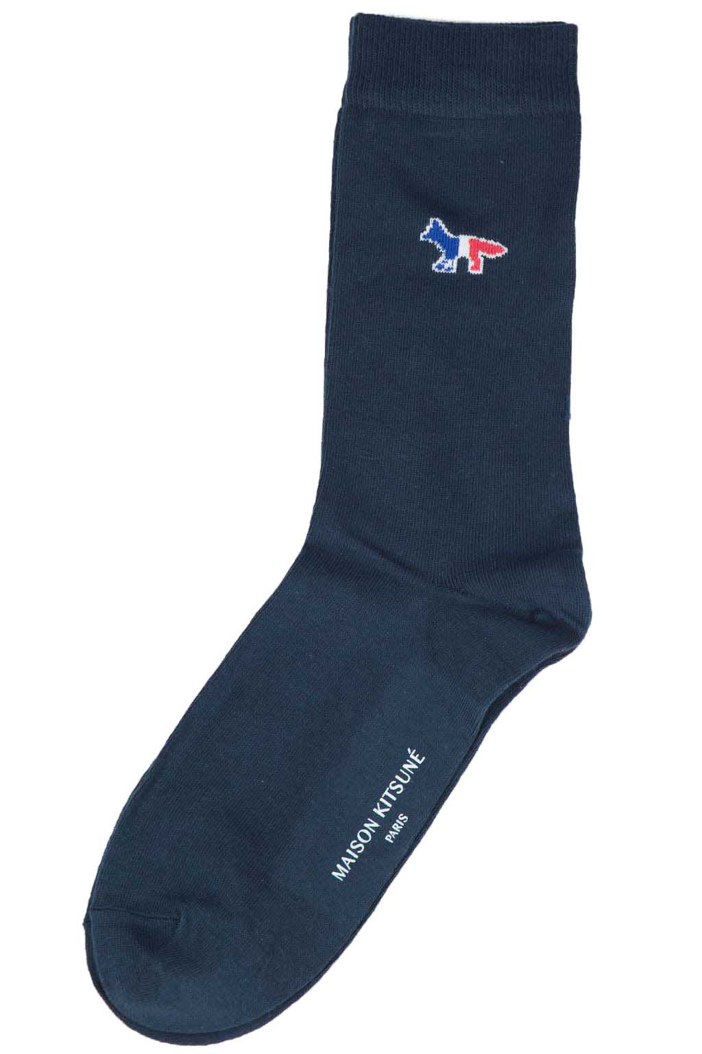 Tricolor Fox Socks - Navy