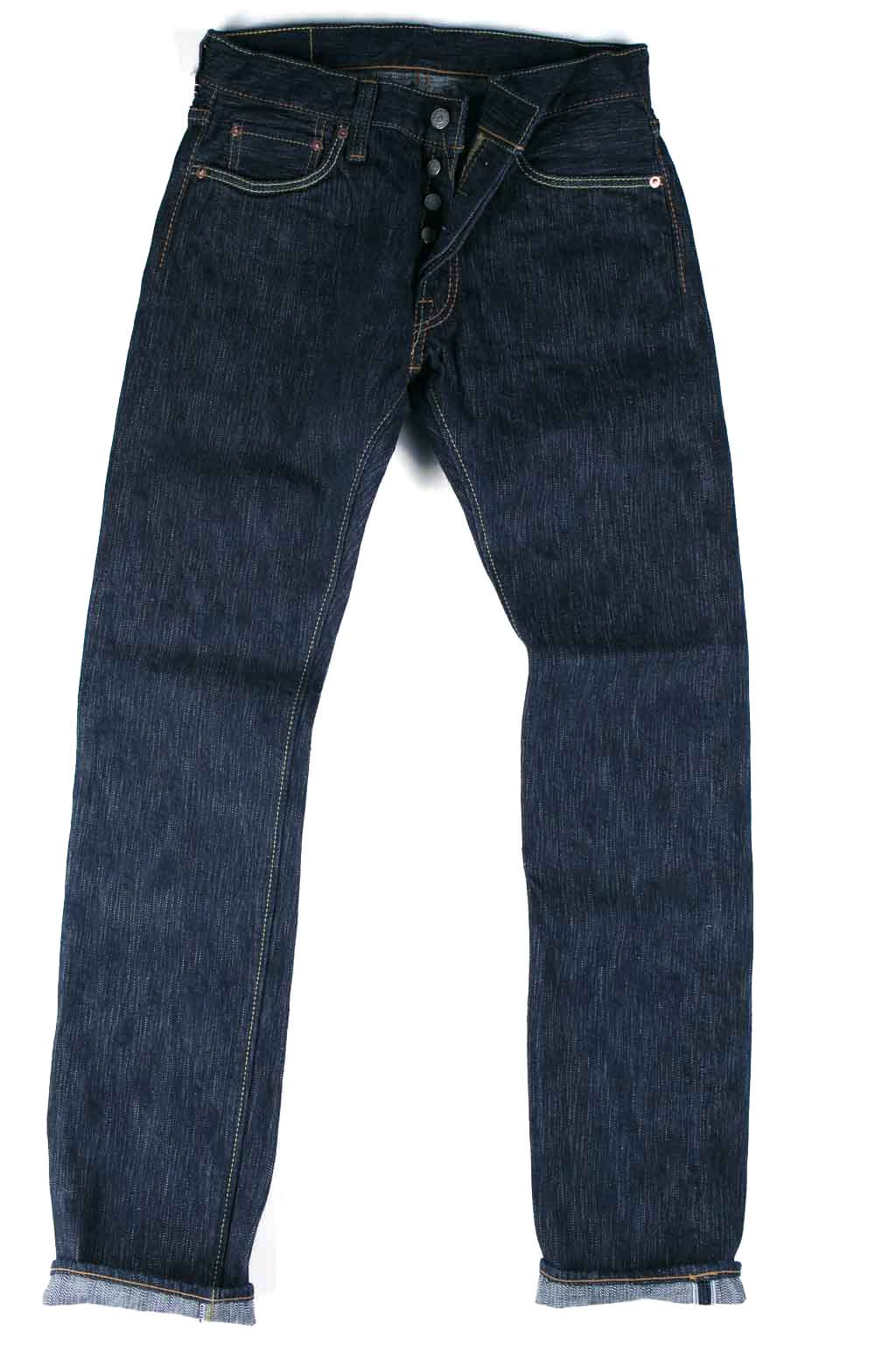 17.5 oz Natural Indigo Jeans Tapered Slim 1 Wash