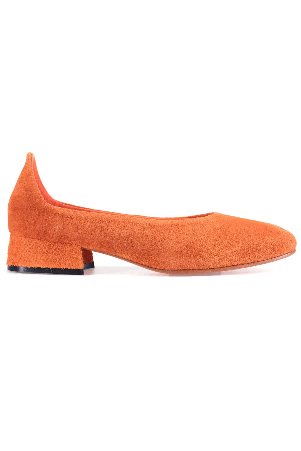 Soft Slip On Shoes - Suede Orange