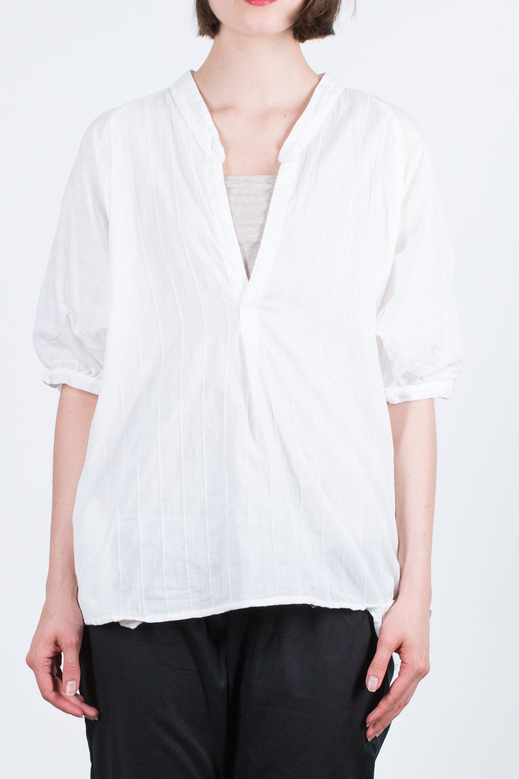 Santorini Cotton Shirt - White