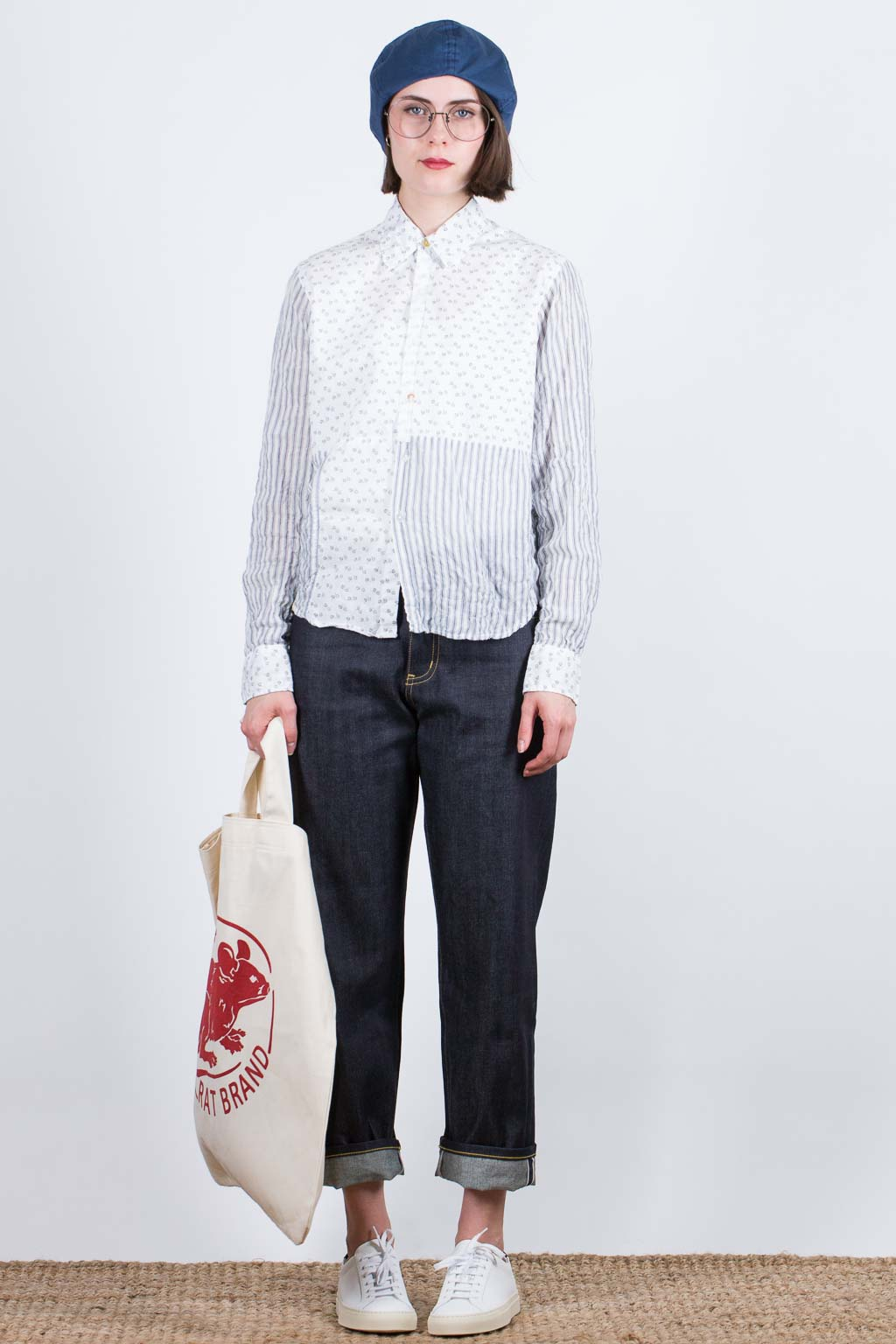 Boy Cotton Shirt - Happy Mixed Prints - Grey
