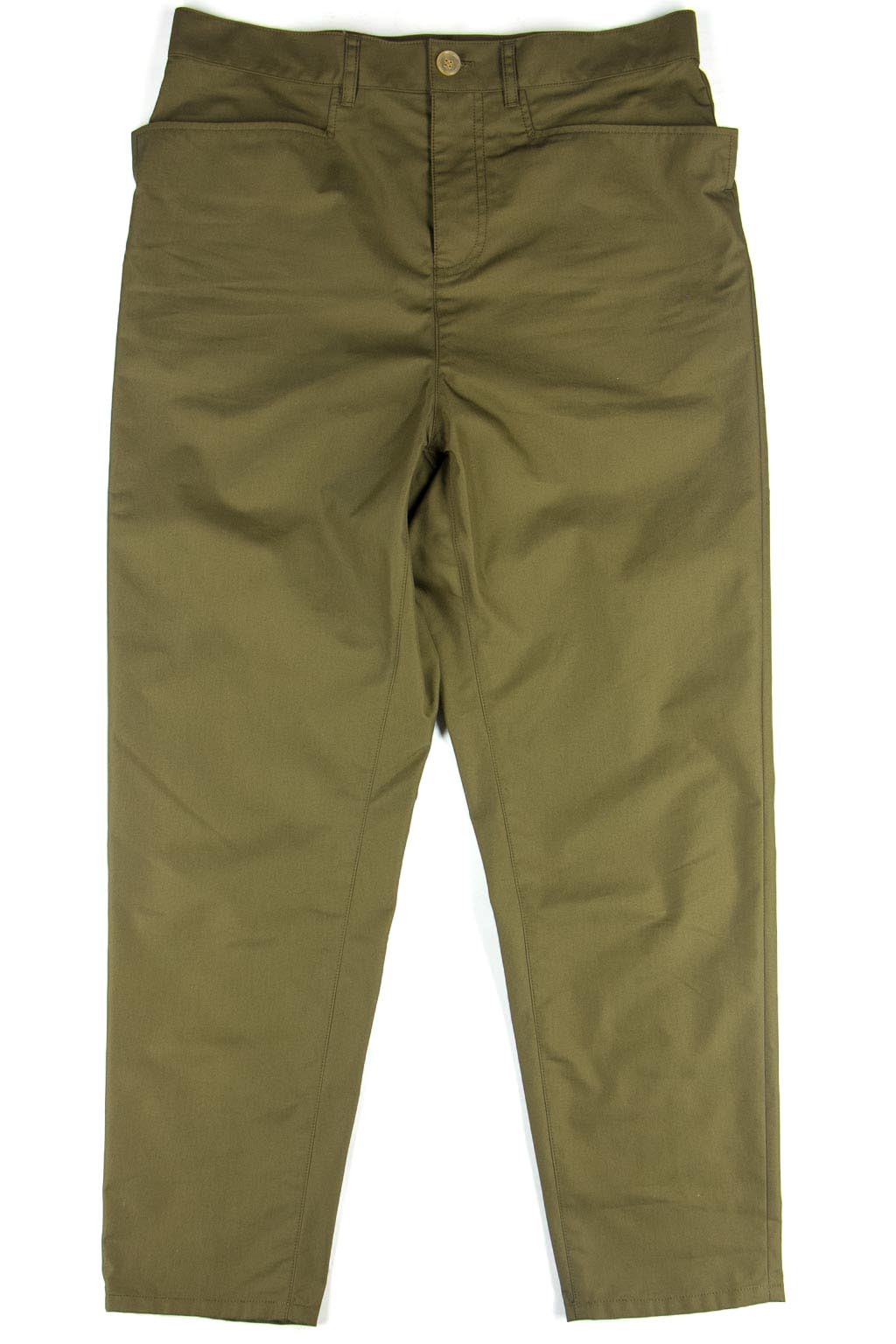 Digawel Slim High Waist Pants - Olive