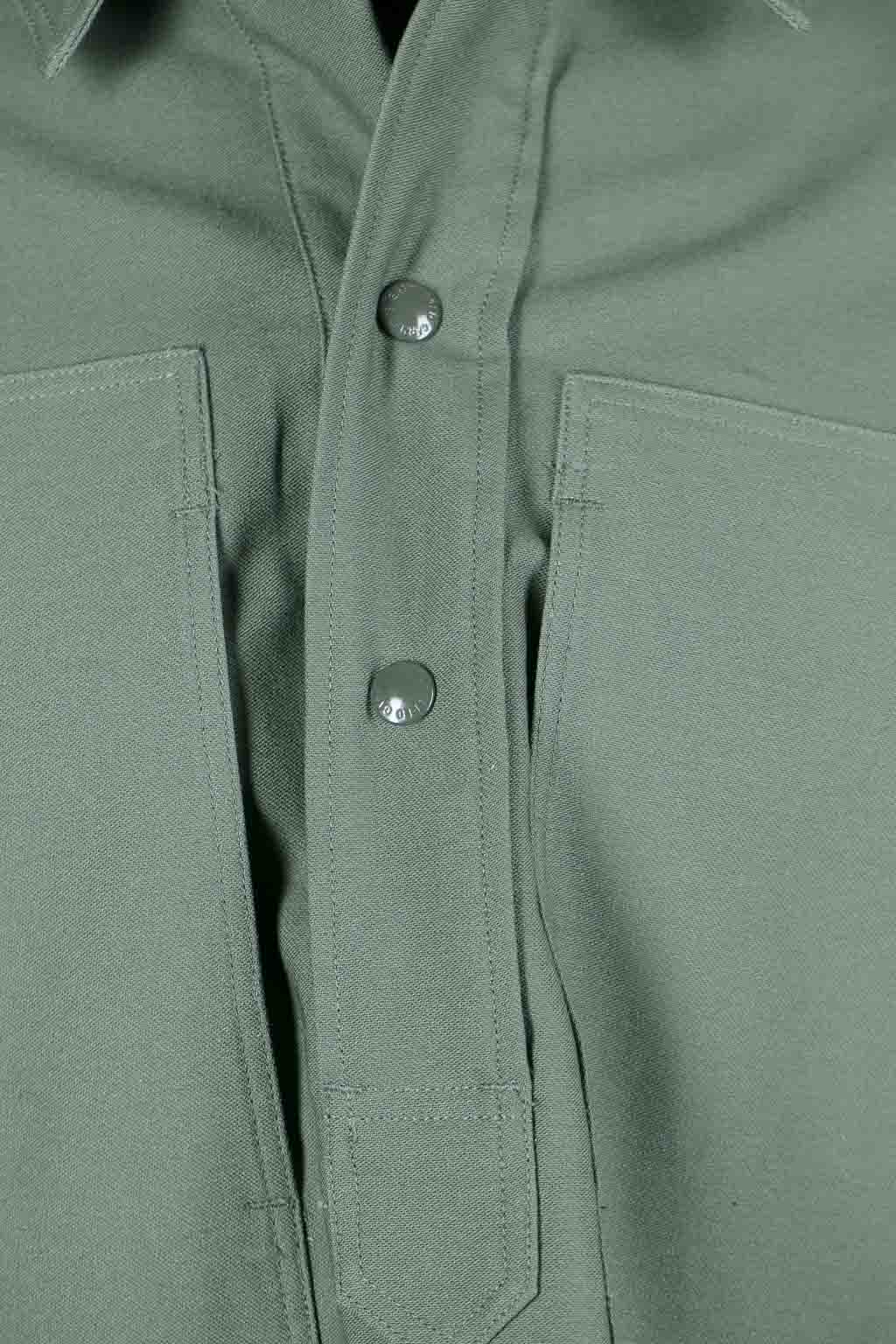 EG Workaday  Army Shirt Cotton Reversed Sateen