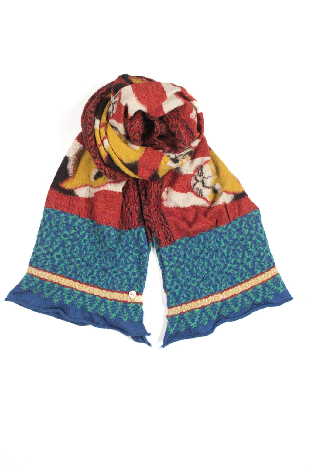 Kapital Compressed Wool Scarf JAPAN MIKE Cat - Red