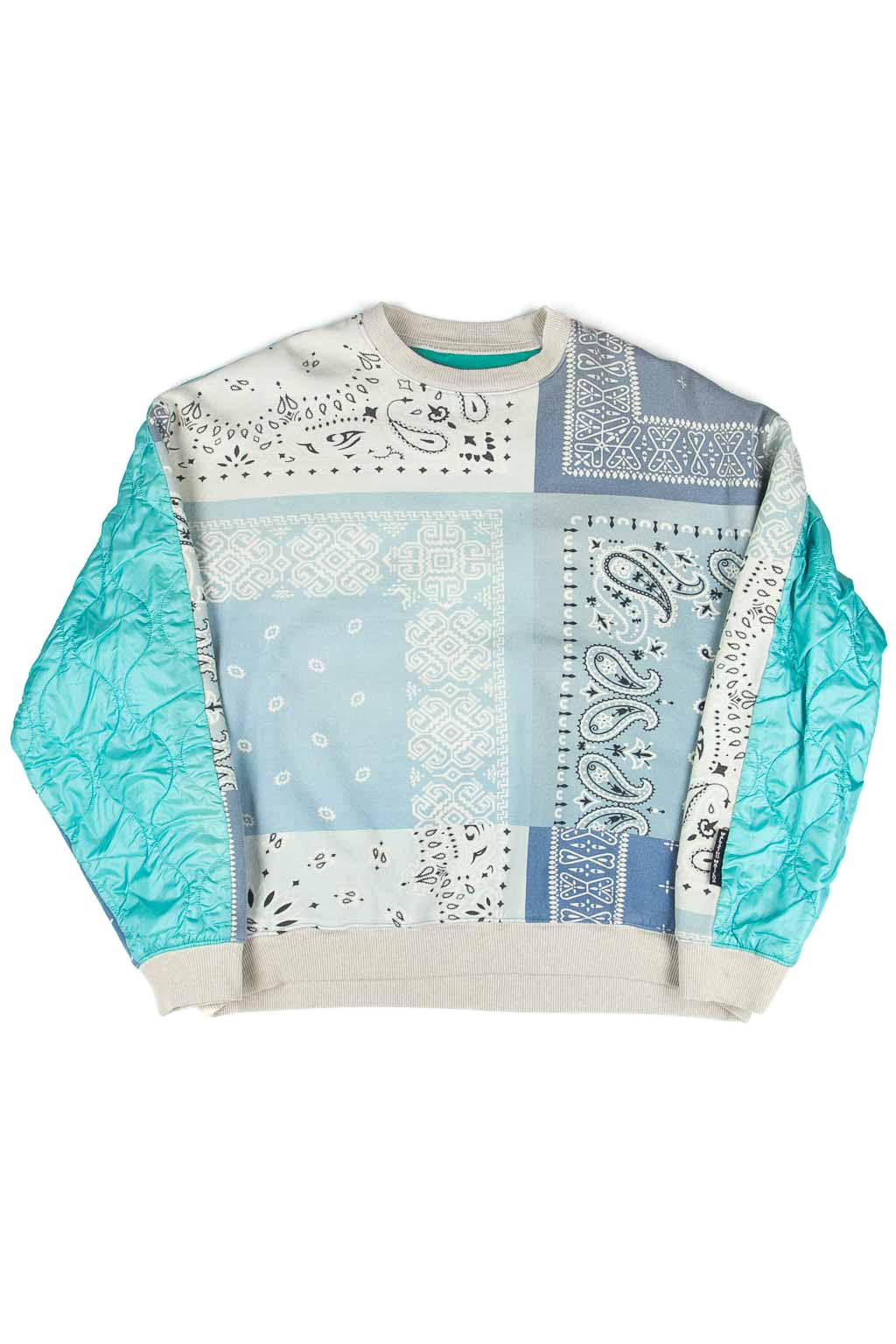 Kapital Fleecy Knit Bandana BIVOUAC BIG Sweater - Blue