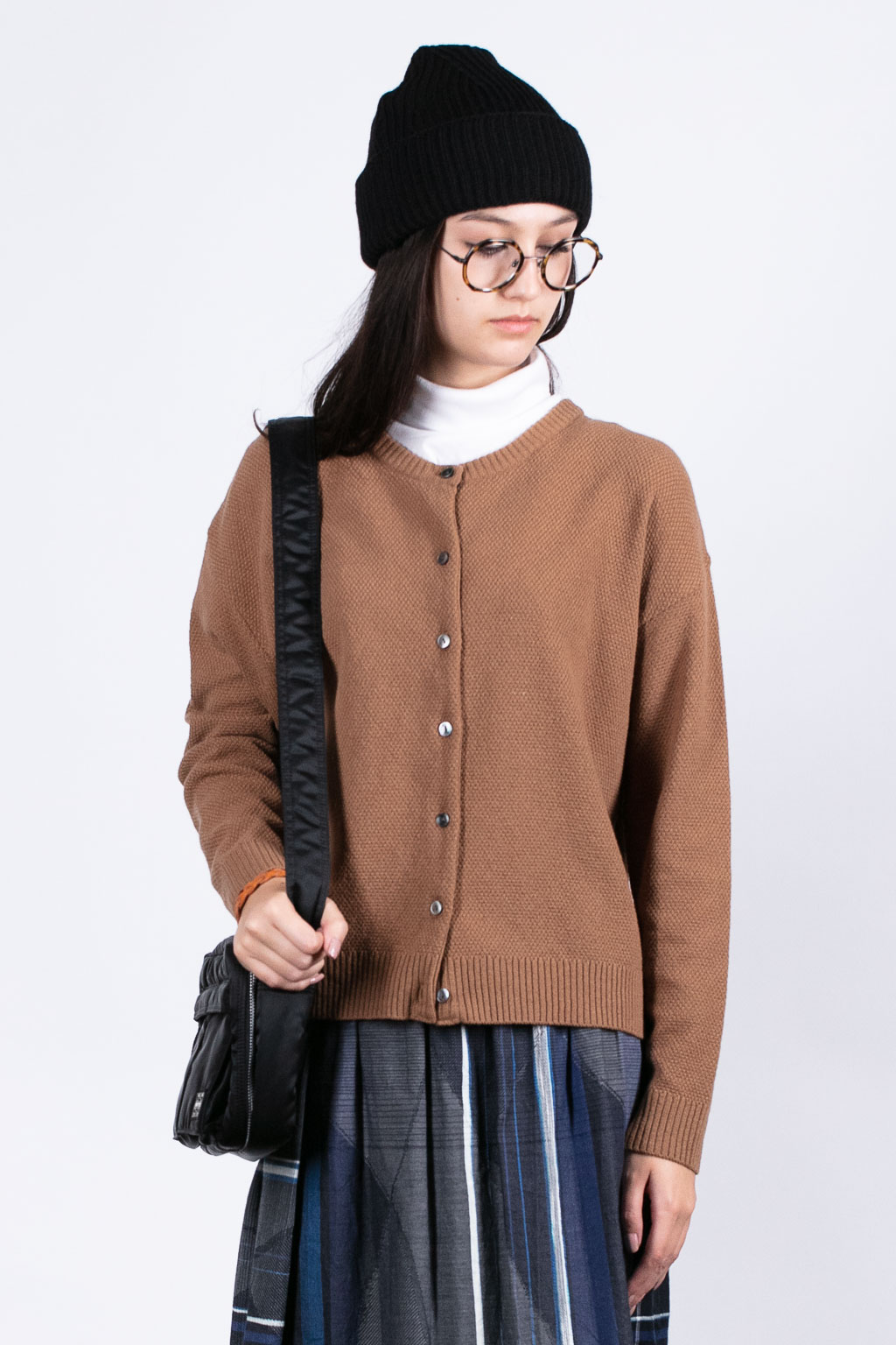 Nofl Washable Wool Cardigan - Brown