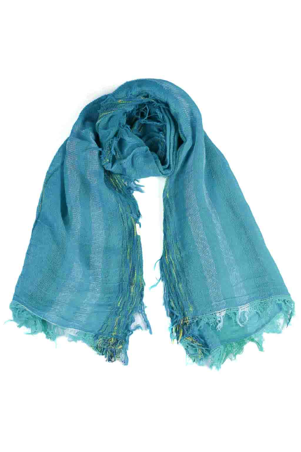 Tamaki Niime Cotton Scarf - Small - Green